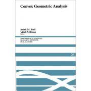 Convex Geometric Analysis