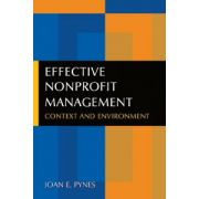 Effective Nonprofit Management: Context and Environment