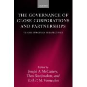 Governance of Close Corporations and Partnerships. US and European Perspectives