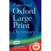 Paperback Oxford Large Print Dictionary (Oxford Dictionaries)