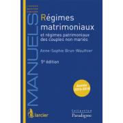 Régimes matrimoniaux et régimes patrimoniaux des coupkles non-mariés
