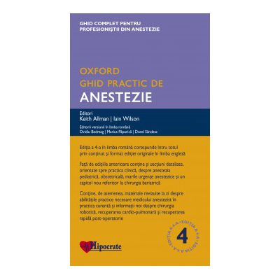 Ghid Practic de Anestezie Oxford (Ghidurile Medicale Oxford)